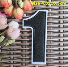 BX New arrival 10 pcs Number 1 Embroidered patches iron on Motif Applique embroidery garment bag Jeans accessory(China)