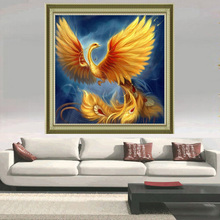 Diamond painting Golden Phoenix Diy Diamond embroidery sale Square Diamond mosaic full needlework Handmade Painting rhinestones