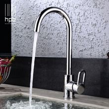Buy HPB Free Copper Chrome Kitchen Faucet Sink Mixer Tap Cold Hot Water taps torneira cozinha Swivel Spout HP4001 for $78.00 in AliExpress store