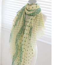 Free shipping !!!Dot lace lady style Voile Scarf Wholesale(China)