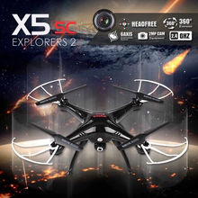 Syma X5C Upgrade X5SC 2.4G 4CH 6-Axis Professional aerial RC Helicopter Quadcopter Toys Drone With 2Mp camera(China)
