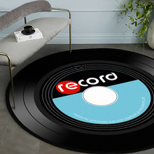 Bedroom Rug Carpets Vinyl Record Round Floor-Mat Soft-Fabric Home-Decor Music-Printed