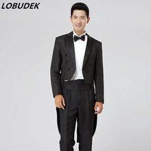 black white men suits (jacket+pants) sets wedding prom groom dancer singer  dress 18399fdc3677