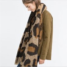 Za Cashmere Scarf women Poncho Duplex Winter Knitted Cashmere Shawls Scarves Leopard Pashmina Shawls scarf luxury brand cachecol
