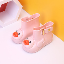 2017 New Mini Melissa Ducks Rain Boots Super Cute Boots Children Rain Boots Boys Baby Girls Kids Rain Boots Water Shoes 13-18cm