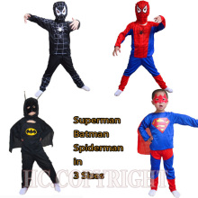 Super Hero Children Theme Party Costume Spiderman Batman Superman Clothing Halloween Boys Girls Dress Up Cosplay Costume