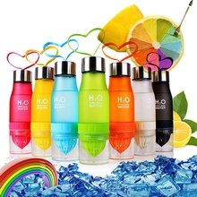 650ml H2O Lemon Juice Fruit Water Bottle Infuser Drinkware For Outdoor Sports My Shaker Bottle Multi Color Blender Bottle