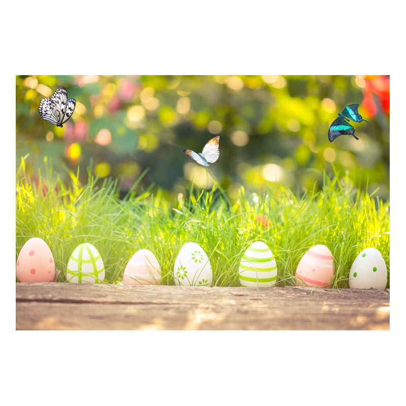 2.2MX1.5M For taking pictures there are beautiful flowers and colorful eggs happy Easter printed vinyl background GE-144<br><br>Aliexpress