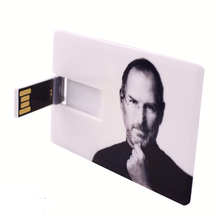 New Steve Jobs Credit Card Shaped USB Flash Drive 2.0 Memory Stick 8GB Custom Retail And Wholesale Unique Commemorative Card key