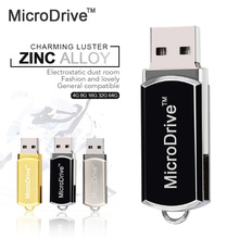 Microdrive U disk metal usb flash drive 4gb 8gb pendrive 16gb USB stick 32 gb memory stick 64gb usb flash drive with key Ring
