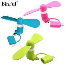 BinFul Mini Portable Cool Micro USB Fan Mobile Phone USB Gadget Fans Tester For iphone 5 5s 6 6s 7 plus 8 for Android HTC(China)