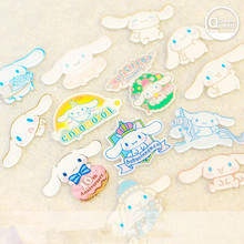 10pcs mixed  acrylic resin Cinnamoroll dog clear cabochon  for DIY pendant decoration