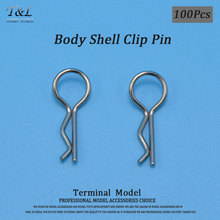 Wholesale 100 Pcs Car Shell Clip Pin High Quality HSP HPI Stainless Steel Body Clips R Pin For 1/10 RC Car Spare Parts 02053