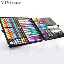 Vividcraft 258pcs/set Kids Art Supplies for Artist Writing&Painting School Supplies Copic Marker Watercolor Pen for Student