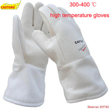 NFHH15-34 protective gloves 300-400 degree industrial heating gloves high temperature fire Gloves(China)