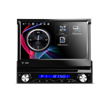 XTRONS 7 inch Motorized Detachable HD Touch Screen One 1 Din Car DVD Player With Steering Wheel Control GPS Navigation Radio