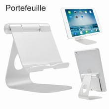 Portefeuille Aluminum Tablet Stand Desktop Holder Dock for iPad Pro 9.7 10.5 Air 2 3 4 mini iPhone 5 6 Nexus Kindle Accessories(China)