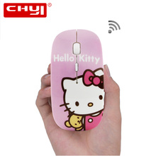 Wireless Mouse Ultra Thin Minion Union Flag Optical Hello Kitty Mouse Spider Web Gamer Mause Computer 2.4GHz 1600DPI Gaming Mice