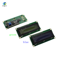 Buy LCD1602+I2C LCD 1602 module Blue green screen IIC/I2C arduino LCD1602 Adapter plate for $2.20 in AliExpress store