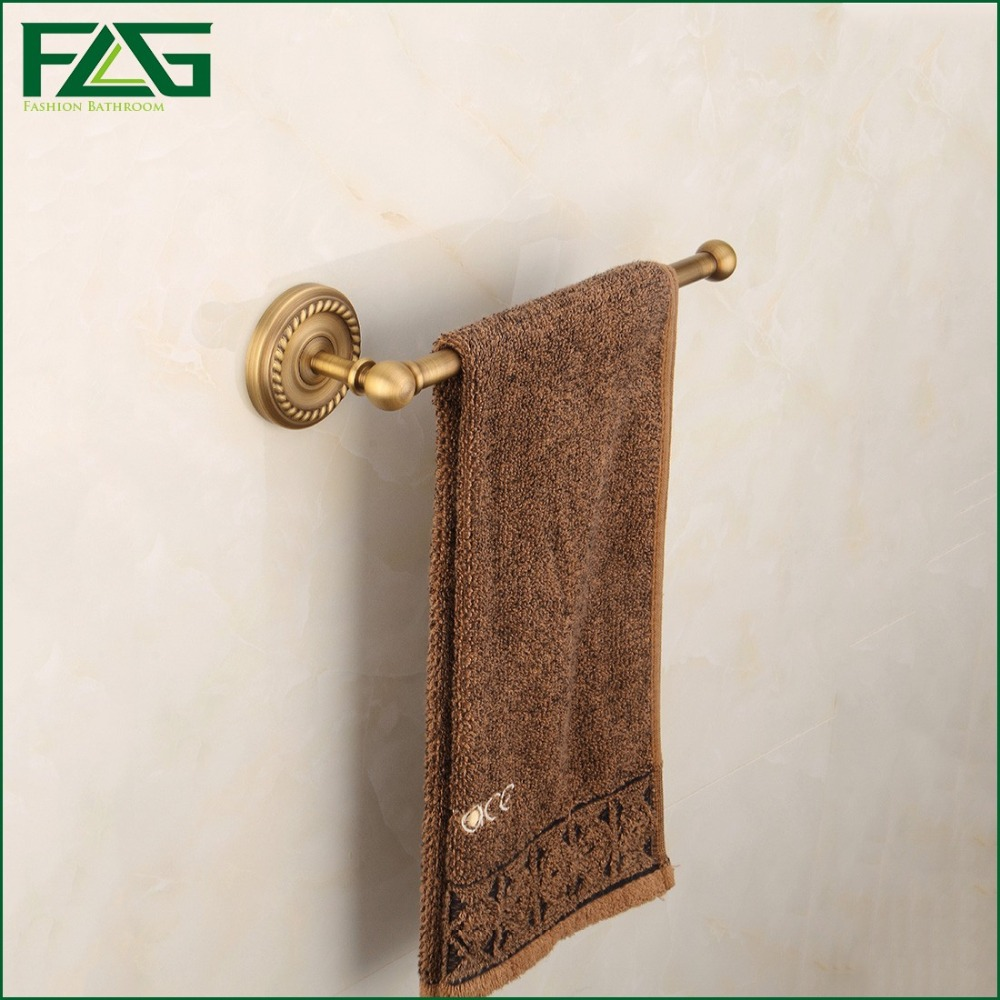 European Copper Antique Bronze Towel Rack Toilet Towel Bar Bathroom Single Bar,Wall Mounted Bathroom Accessories,Free Shipping<br><br>Aliexpress