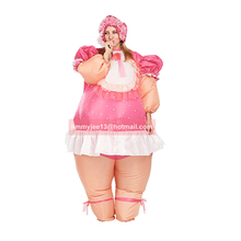 baby doll costume inflatable costume baby cosplay suit celebrate baby birth party fancy dress air blown outfit promotion(China)