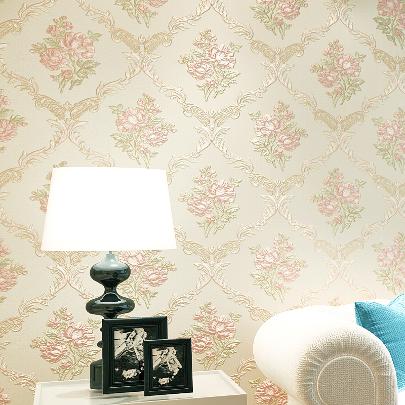 beibehang  Thicken Pastoral Floral Wallpaper roll papel de parede 3D Wall Paper Mural Wall paper for living room papel contact<br>