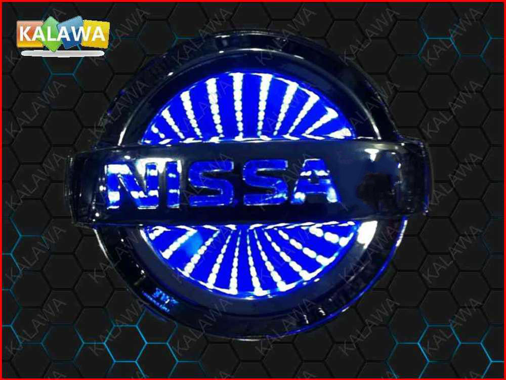 11.7cm*10cm BIG 3D car logo light LED emblem 3D laser car badge Replacement Case For NISSAN LIVINA blue red white 3 color(China (Mainland))