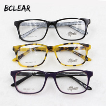 BCLEAR popular unisex pure acetate eyeglasses new arrival high quality fashion optical frame for men and women hot selling H825