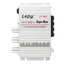LEPY 12V Hi-Fi Stereo Audio Amplifier Home Hi-Fi Bass Speaker Loudspeaker with USB Port FM for Car Auto Mini MP3 MP4 PC Radio