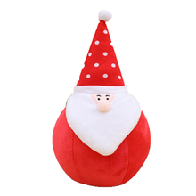 Pillow Plush Christmas Decorations Snowman Santa Claus Stuffed Animals Brinquedo Menina Soft Toy Knuffel Gifts Children 80G0410(China)