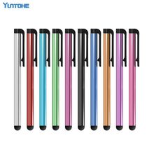 1000pcs/lot Mini Pens Capacitive screen stylus touch pen with clip for iphone 7 6 5 4 iPad mini iPad iPod touch for samsung(China)