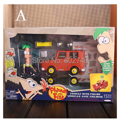 Classic Phineas and Ferb Perry the Platypus Figure Set Action Figures With Car<br><br>Aliexpress