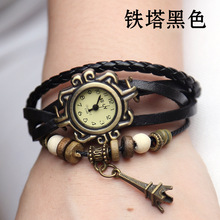 Hot Sale Tower Pendant Genuine Cow Leather Watch women ladies dress quartz wrist watch Relogio Feminino kow057