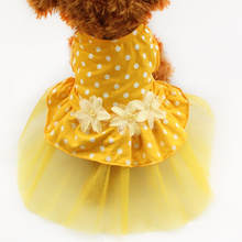 Armi store Yellow, White  Polka Dot Tutu Lace Dog Dress Princess Dresses For Dog 6071013 Pet Costume Skirt  Supplies
