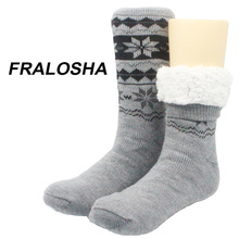 Buy FRALOSHA Long floor Socks Home Slipper man's Winter Warm Fuzzy Anti-Skid Lined Indoor Floor Socks Christmas socks for $13.70 in AliExpress store