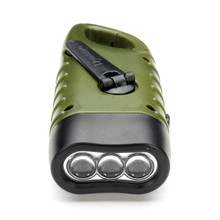 MainiFire Mini Emergency Hand crank Solar Flashlight Rechargeable LED Light Lamp Charging Powerful Torch For Camping Outdoor