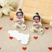 Princess and Frog flat back planar resin Baby Tiana Figurine holiday decoration crafts DIY phone hair Bow accessories