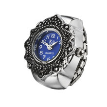 High Grade Watch Flower Carving Pattern Watch With Delicate Quartz Dial Wrist Watch Ring For Lover Women LL