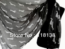 Fashion Dog Dachshund Print Animal Scarf Shawl Wrap Oversized Scarves, Free Shipping