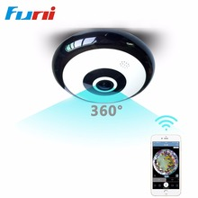 Funi VRC3601 Mini Wifi IP Camera 360 Degree Camera IP 3MP Fisheye Panoramic 960P WIFI PTZ IP Cam Wireless Video Camera(China)