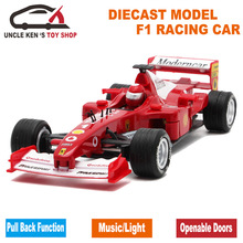 1:28 Collectible Diecast Formula 1 Model Cars, Mclaren F1 Metal Souvenir, Kids Alloy Toys With Pull Back Function/Sound/Light(China)