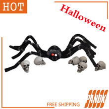 Poseable Furry Spider Light up Giant Spider Halloween Decorations Holiday Halloween Props Haunted House Ideas Party Yard
