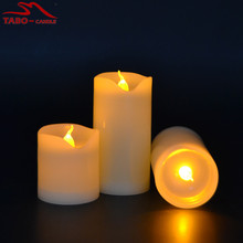 3pcs/lot Small Battery Operated LED Candle with Long Lasting Bright Light Flameless LED Candle Set with Hight Quality(China)