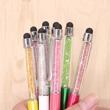 Buy 10pcs Cute Kawaii Metal diamond Crystal ballpoint Pen Touch Ball pen Ipad Iphone Gift School Office Supplies Free for $4.61 in AliExpress store