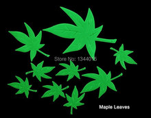 Maple leaf Glow in the Dark Fluorescent Wall Stickers PVC Decor Decoration DIY Home Wall Decals H0014(China)