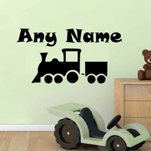 Personalised Name Train Wall Stickers Home Decor Living Room Kids Bedroom Decor Wall Art Decals Home Decoration Accessories