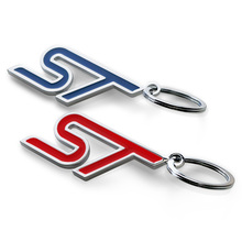 Blue Red S ST RS Car Key Chain Key Ring for Exploror Escort Kuga Mustang Fiesta eco sport Decorations Car Keychain Accessory