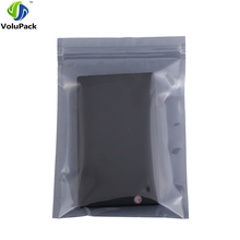13x18cm (5x7in) 100x Translucent barrier packaging bags Moisture proof Antistatic Bags zipper for Electronic accessories(China)