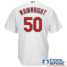 MLB Men's St. Louis Cardinals Adam Wainwright Baseball White Home Cool Base Player Jersey(China)