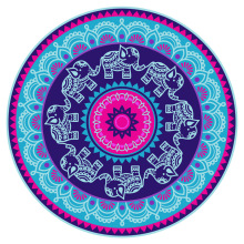 2017 Summer Chiffon Round Beach Towel Large Indian Mandala Tapestry Tablecloth Cover Up Cheap Beach Towels Outdoor New